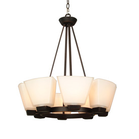 allen + roth 24-in 8-Light Dark Oil-Rubbed Bronze Standard Chandelier