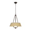 Portfolio 21-in W Dark Oil-Rubbed Bronze Finish Pendant Light with Fabric Shade