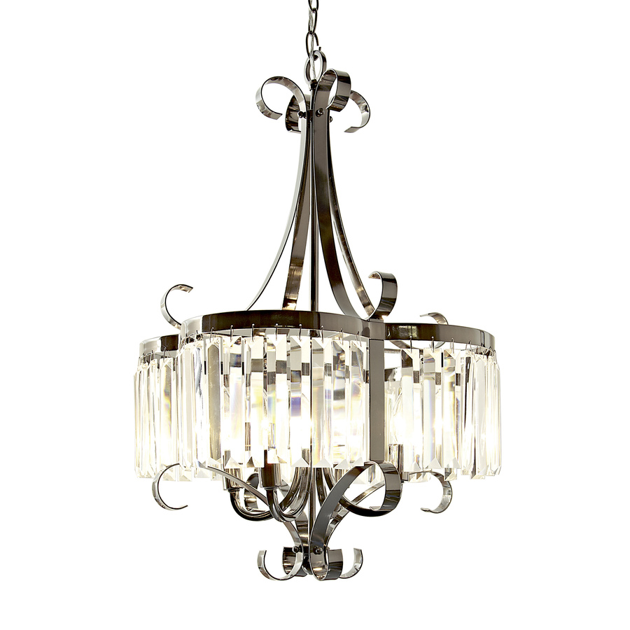 shop style selections 4 light black chrome chandelier at