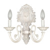 Style Selections Style Selections 11.63-in W 2-Light Antique White Arm Hardwired Wall Sconce