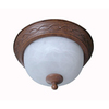 Portfolio 13-in Bronze Ceiling Flush Mount