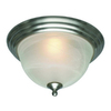 Project Source 10-in Brushed Nickel Ceiling Flush Mount