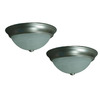 Project Source 2-Pack 13-1/8-in Brushed Nickel Ceiling Flush Mount