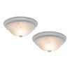 Project Source 2-Pack 13-1/8-in White Ceiling Flush Mount