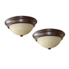 Project Source 2-Pack 13.12-in W Bronze Ceiling Flush Mount