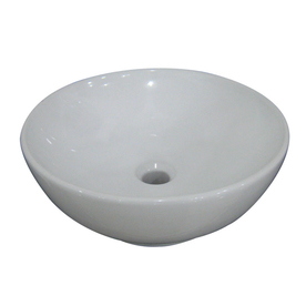 AquaSource White Vitreous China Pedestal & Vessel Sink from Lowes ...