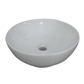 aquasource viterous china white vessel sink 15 in round vessel