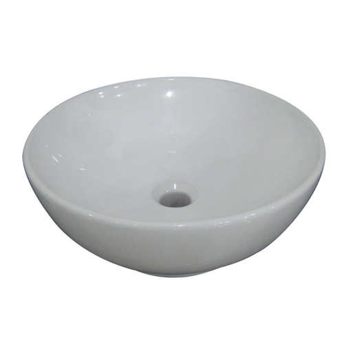 ... White Round AquaSource Vessel Sink from Lowes Sinks Bathroom Furniture