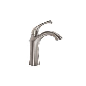 allen + roth Creation Suites Brushed Nickel 1-Handle Single Hole/4-in Centerset WaterSense Bathroom Sink Faucet