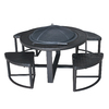allen + roth 42-in Black Steel Wood-Burning Fire Pit