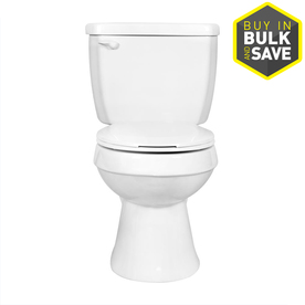 Project Source White 1.28 GPF High Efficiency WaterSense Round 2-Piece Toilet