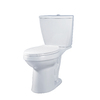 AquaSource White 1.6 GPF High Efficiency WaterSense Elongated Dual-Flush 2-Piece Toilet