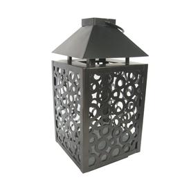 allen + roth 13.11-in H Bronze Metal Outdoor Decorative Lantern