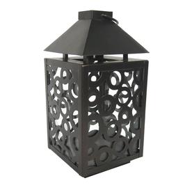 allen + roth 8.11-in H Bronze Metal Outdoor Decorative Lantern