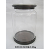 allen + roth Glass Canister with Orb Iron Cover and Base