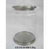 allen + roth Glass Canister with Polish Chrome Iron Cover and Base