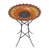 Garden Treasures Sunflower 1-Tier Birdbath