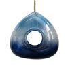 Garden Treasures Blue Glass Squirrel-Resistant Window Bird Feeder