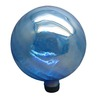 Garden Treasures 11.8-in Blue Blown Glass Gazing Ball