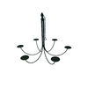 allen + roth 6-Light Metal Candle Chandelier