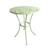 Garden Treasures Shadyside Tile-Top Antique White Round Patio Dining Table