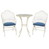 Garden Treasures Set of 2 Shadyside Antique White Cushioned Seat Steel Patio Dining Chairs
