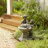 Garden Treasures 27.2-in Resin Fountain Statue