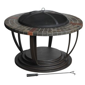 allen + roth 39-7/8&#034; Brown Steel Wood-Burning Fire Pit