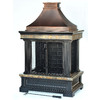 Garden Treasures Bronze Steel Outdoor Wood-Burning Fireplace
