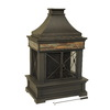 allen + roth Brown Steel Outdoor Wood-Burning Fireplace