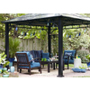 allen + roth Black Square Grill Gazebo