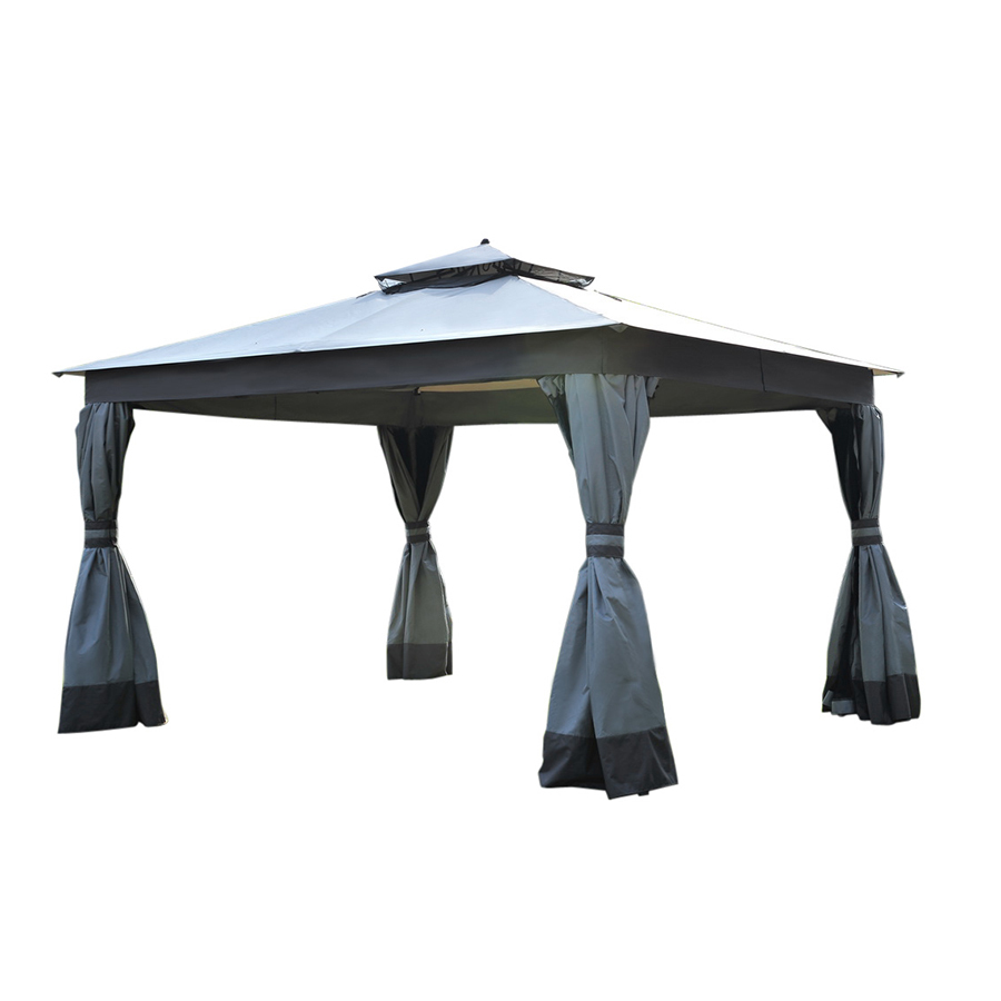 Shop allen + roth Caster Gray Polyester Replacement Canopy ...