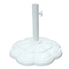 Garden Treasures White Powder-Coated Cast Iron Umbrella Base