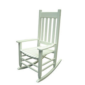 Home Garden Treasures White Outdoor Rocking Chair
