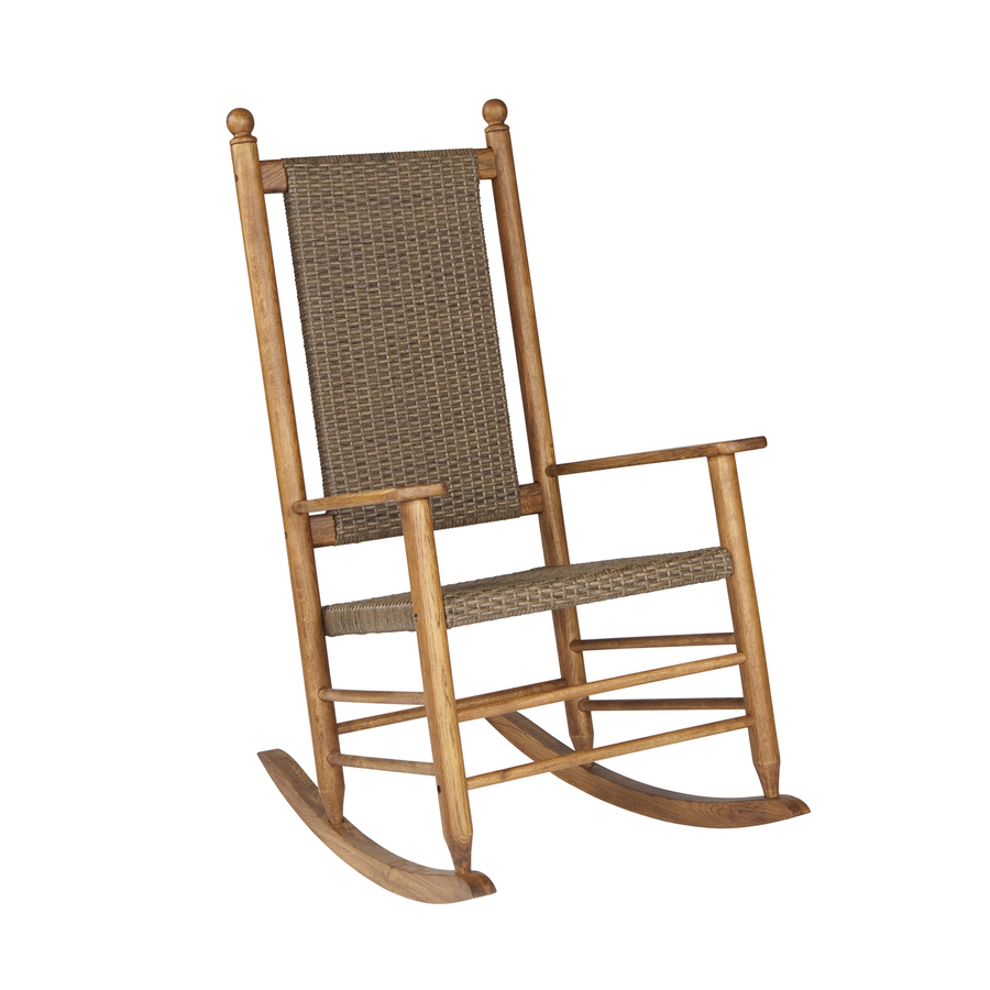 Shop Garden Treasures Natural Wicker Mesh Seat Outdoor Rocking Chair At Lowes