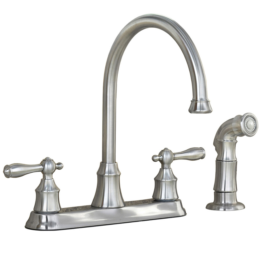 kitchen faucets lowes pvd 2 handle high arc kitchen faucet with side spray at lowes com. Interior Design Ideas. Home Design Ideas