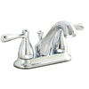 AquaSource Polished Chrome 2-Handle 4-in Centerset Watersense Bathroom Sink Faucet (Drain Included)
