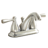 AquaSource Brushed Nickel PVD 2-Handle 4-in Centerset Watersense Bathroom Sink Faucet (Drain Included)