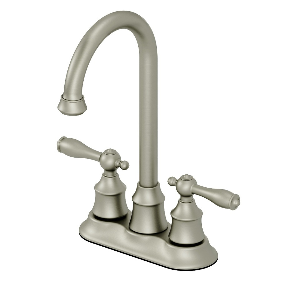 Shop AquaSource Brushed Nickel 2-Handle Bar Faucet at Lowes.com