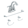 AquaSource 4-Piece Polished Chrome Decorative Bathroom Hardware Set