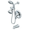 AquaSource Polished Chrome 1-Handle Tub and Shower Faucet with Multi-Head Showerhead