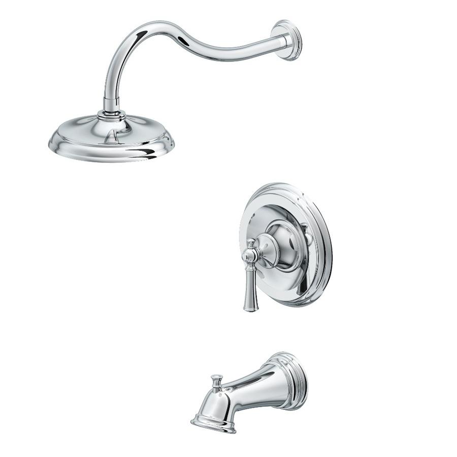Shop Aquasource Glyndon Polished Chrome 1 Handle Bathtub