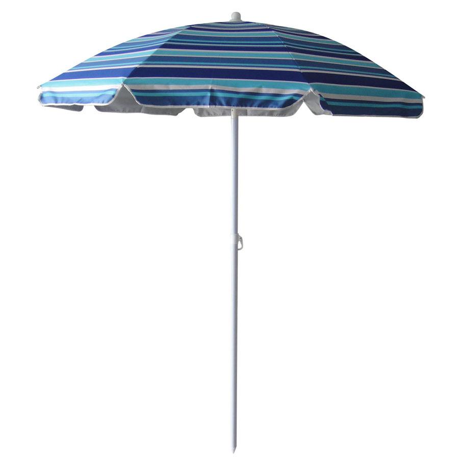 shop garden treasures round multicolor blue umbrella with