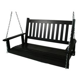 Garden Treasures 2-Seat Wood Traditional Swing