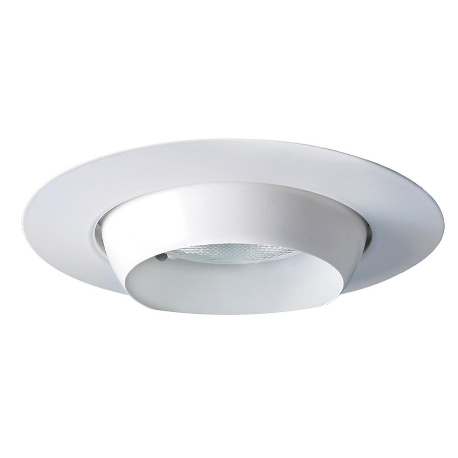 Recessed Lighting Utilitech : Utilitech white eyeball recessed light trim fits