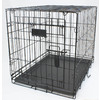 Blue Hawk 2-ft x 1.46-ft x 1.66-ft Black Collapsible Plastic and Wire Pet Crate