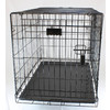 Blue Hawk 3.5-ft x 2.25-ft x 2.5-ft Black Collapsible Plastic and Wire Pet Crate