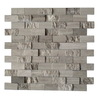 CCI Driftwood Grey Subway Mosaic Wall Tile (Common: 12-in x 12-in; Actual: 11.77-in x 11.77-in)