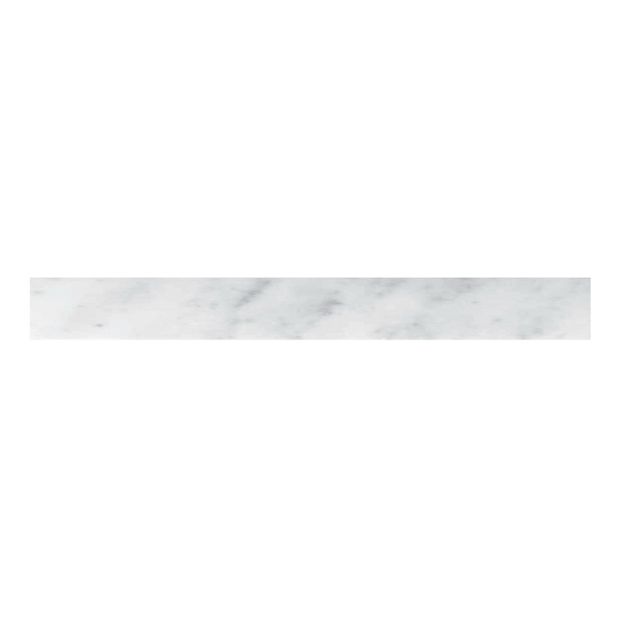 Shop cci 4 in x 36 in white marble natural marble for Marble threshold bathroom