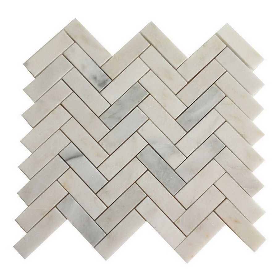 Stone White Marble Natural Stone Mosaic Indoor Outdoor Floor Tile